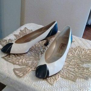 Vintage Amalfi Italian Leather Heels 7.5 B